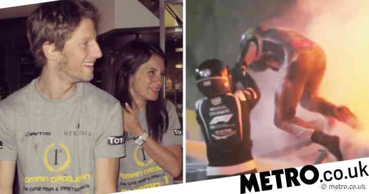 Romain Grosjean's wife reveals her reaction to horrific fireball crash in emotional message