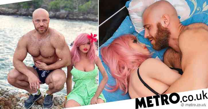 Bodybuilder marries sex doll after two years of 'dating'