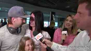 Brekky TV Crews Turned The Emotional Reunions At Brisbane Airport This AM Into Media Chaos - Pedestrian TV