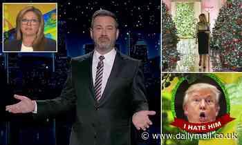 Jimmy Kimmel pokes fun at Melania Trump's Christmas decorations