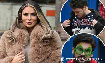 TOWIE's Amy Childs goes super glam for festive special filming