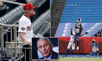 Dr. Fauci warns it will be late summer 2021 before big crowds can return to sporting events