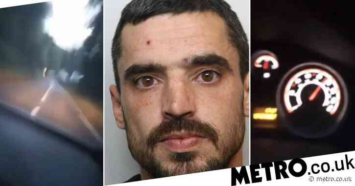 Driver who live streamed himself on Facebook speeding at 120mph is jailed