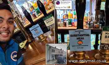 Covid lockdown England: Pub landlord renames ale 'Substantial Meal'