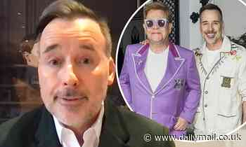 David Furnish says he and husband Elton John have a 'one gift rule' for each other at Christmas