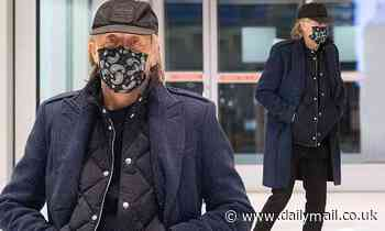 Paul McCartney, 78, opts for a laid back look as he touches down in JFK airport in NYC