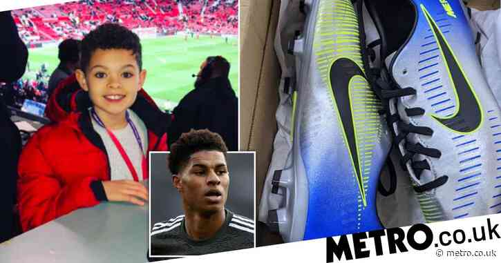 Boy, 10, gets birthday surprise from Marcus Rashford after helping hungry kids