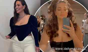 Ashley Graham dresses from the waist up for WWHL before sharing 'glamour' of pumping in makeup chair