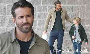 Ryan Reynolds films on set for new sci-fi movie The Adam Project in his native Vancouver