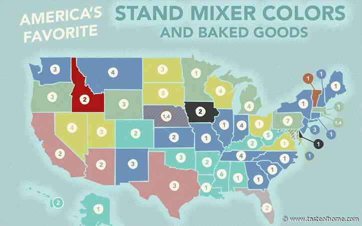 The Most Popular KitchenAid Stand Mixer Colors by State