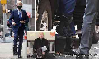 Joe Biden shows off surgical boot after fracturing foot walking dog