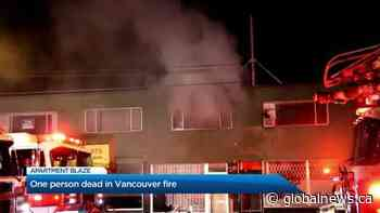 One person is dead following Vancouver apartment fire on Kingsway