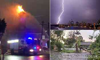 Thunderstorm lights up Sydney sky, burning down a house and leaving 5,000 homes without power