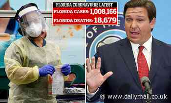 Florida becomes the third state to reach one million COVID-19 cases after Texas and California