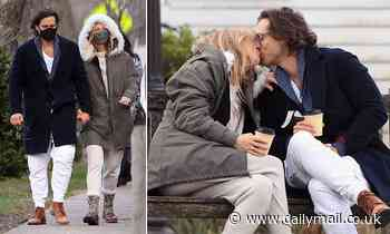 Gwyneth Paltrow shares a passionate kiss with husband Brad Falchuk