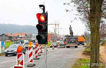 Burgkirchener Straße: Bauarbeiten für neue Ampel laufen - Passauer Neue Presse