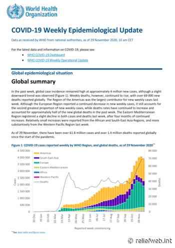 Coronavirus Disease (COVID-19): Weekly Epidemiological Update (1 December 2020) - World - ReliefWeb