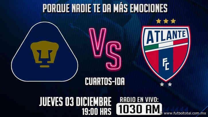 Escucha EN VIVO aquí el partido entre Pumas Tabasco vs Atlante