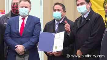 Wiikwemkoong celebrates opening of FN95 mask manufacturing plant