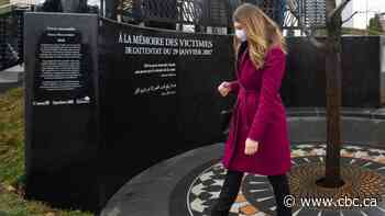 Memorial to the victims of the Quebec City mosque attack unveiled