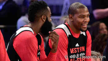 Kevin Durant denies any reports he spoke to James Harden regarding trade to Nets