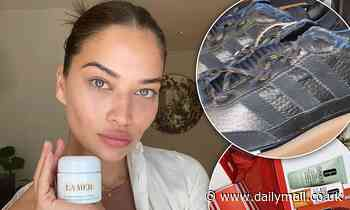 Shanina Shaik shows off her VERY expensive freebies as she prepares to spend the holidays in London