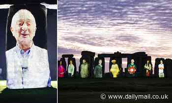 Unsung heroes of heritage sector have their faces projected onto Stonehenge
