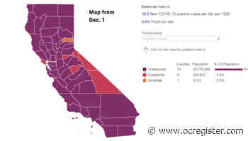 Coronavirus: Here's what color tier each California county is in on Dec. 1 - OCRegister