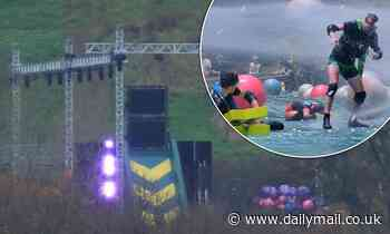 I'm A Celebrity crew set up iconic Celebrity Cyclone complete with huge slide