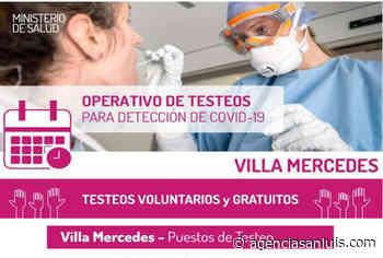 | Villa Mercedes: se realizará un intenso operativo de testeos durante toda la semana - Agencia de Noticias San Luis