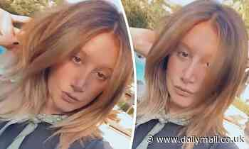 Ashley Tisdale debuts her new 'bronde' locks on Instagram as she plays with her caramel tresses