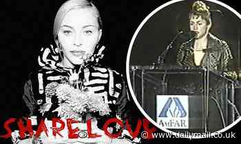 Madonna marks World AIDS Day by paying tribute to five fallen friends and sharing 1991 amfAR speech