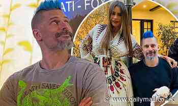 Joe Manganiello jokes about Sofia Vergara's reaction to his blue Mohawk