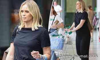 Pregnant Today Extra host Sylvia Jeffreys is spotted picking up some groceries in Sydney