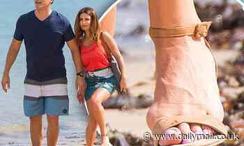 Ada Nicodemou reveals bunions as she walks down Palm Beach in high heels