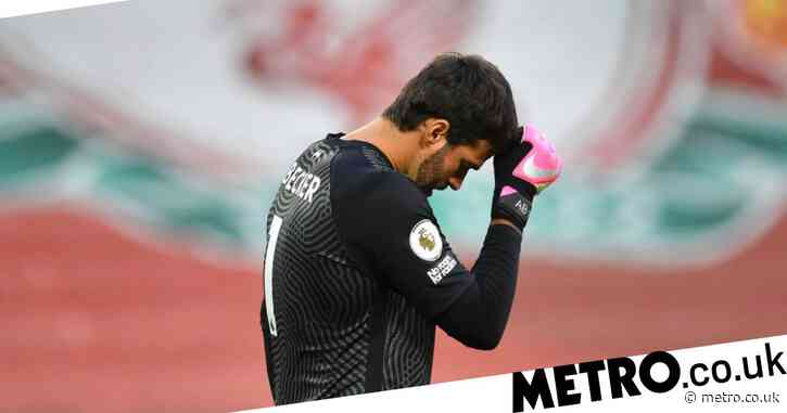 The Liverpool games Alisson Becker will miss as Jurgen Klopp predicts up to two weeks out injured