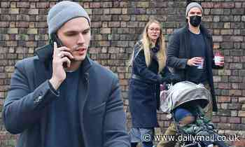 Nicholas Hoult and his girlfriend Bryana Holly cut low-key figures