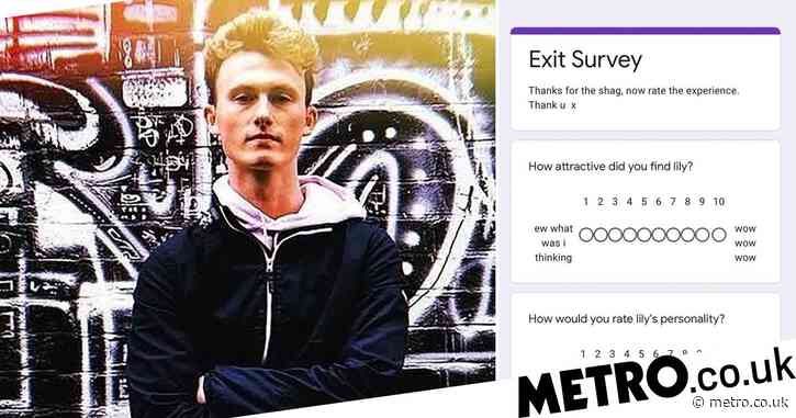 Man receives 'exit survey' from ex-lover asking him to rate the experience