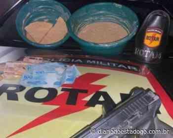 Rotam prende homem que produzia crack, em Aparecida de Goiânia - Diário do Estado