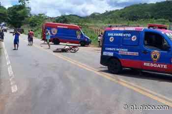 Jovem morre ao bater moto em caminhonete na BR-352 em Pitangui - G1