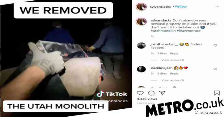 Utah's monolith mystery explained as TikTok video shows who removed it