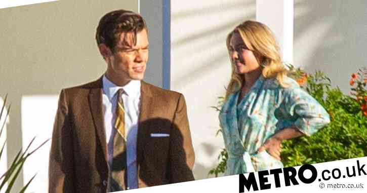 Harry Styles looks suave as ever behind the scenes on Don't Worry Darling set with Florence Pugh