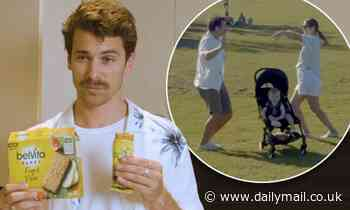 Matty Johnson dances his way around Sydney with fiancée Laura Byrne in new ad for Belvita