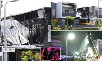 Body of infant is found inside burnt-out Melbourne townhouse with two other adults
