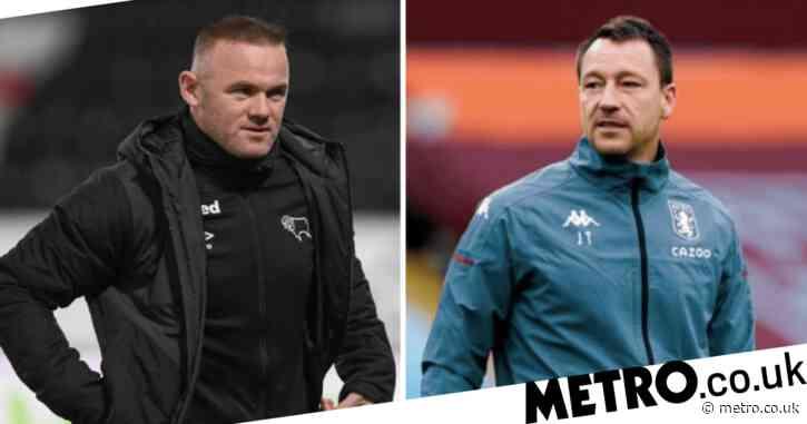 Wayne Rooney responds to rumours John Terry is frontrunner for Derby County job