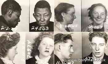 Gallery of American criminals from the 1940s revealed in police mug shots up for auction