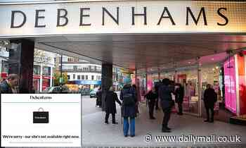 Debenhams' website CRASHES leaving shoppers fuming after more than a MILLION queued online