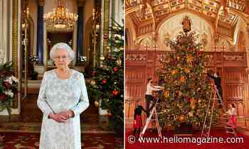 The Queen installs six Christmas trees including one of 20ft at home with Prince Philip