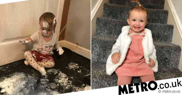 Toddler decides to 'copy Mr Tumble' and decorate living room carpet with a tub of Sudocrem