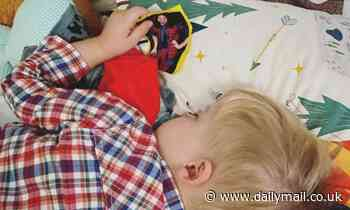I'm A Celebrity star Giovanna Fletcher's son, 2, sweetly falls asleep holding a picture of her